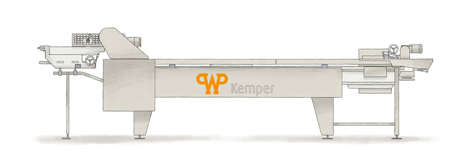 Fully automatic frying process: WP Kemper donut fryer LARGO S